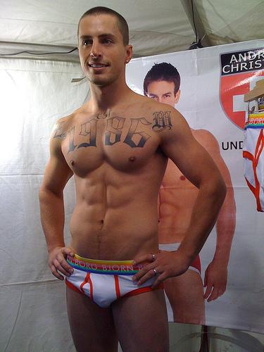 Borg Bjorn underwear model at the Under U 4 Men tent