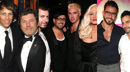 These are apparently gay celeb frontrunners, though I haven't a clue who they are...