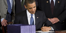 President Obama signs the Hate Crimes Prevention Act