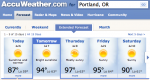 Portland Weather...it's getting better!