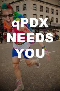Help qPDX.com cover gay pride