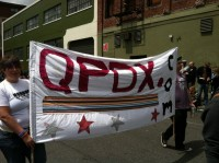Pride NW Sunday Parade qPDX.com banner