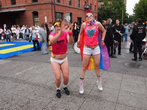 SuperGay and Diana at Pride 2010