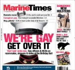 Last week's cover of the Marine Times