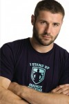 Ben Cohen modeling one of his Stand Up tees