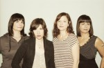From left: Rebecca Cole, Carrie Brownstein, Mary Timony and Janet Weiss from Wild Flag