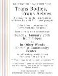 Trans Bodies Trans Selves Community Involvement Forum